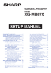 Sharp XG-MB67X Quick Guide