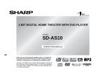 Sharp SD-AS10 User's Manual