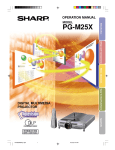 Sharp PG-M25X Owner's Manual