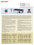 Sharp PG-LW2000 Specification Sheet