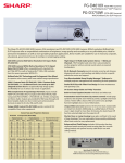 Sharp PG-D3750W Specification Sheet