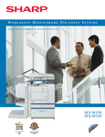 Sharp MX-M350N Brochure