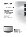 Sharp LC-32AV22U User's Manual