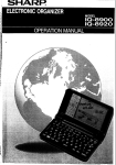 Sharp IQ-8900 User's Manual