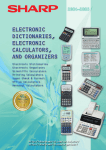 Sharp electronic calculator User's Manual