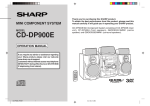Sharp CD-DP900E User's Manual
