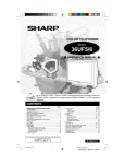 Sharp 36UF5/6 User's Manual