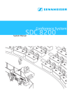 Sennheiser Microphone SDC 8200 User's Manual