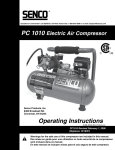 Senco PC 1010 User's Manual