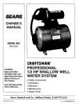 Sears 390.2521 User's Manual
