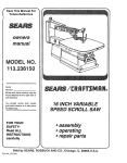 Sears 113.23615 User's Manual