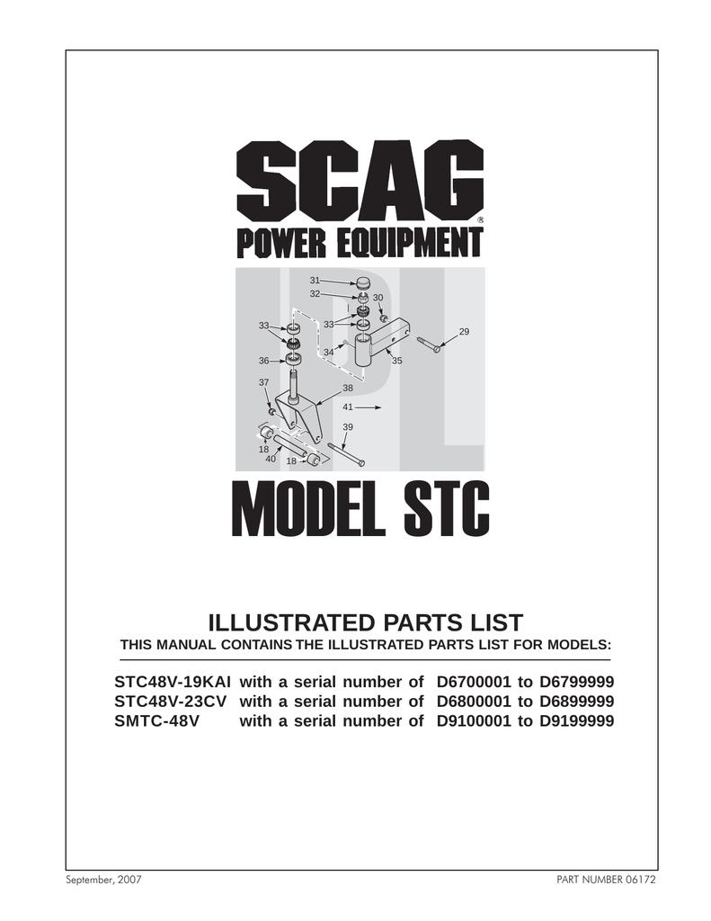 Scag Power Equipment SMTC-48V User's Manual