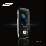 Samsung YP-T9J User's Manual