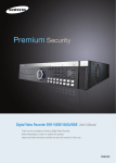 Samsung DVR SVR-1640A User's Manual