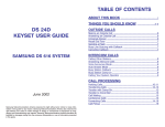 Samsung DS 616 User's Manual