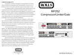 Rolls RP252 User's Manual