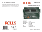 Rolls HR155 User's Manual