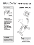 Reebok Fitness RBEX2976.1 User's Manual