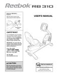 Reebok Fitness RBEX3976.2 User's Manual