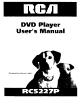 RCA RC5227P User's Manual