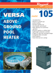 Raypak VERSA 105 User's Manual