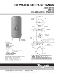 Raypak Asme Code 534 Gallons User's Manual