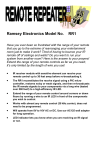 Ramsey Electronics RR1 User's Manual