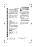 Radio Shack Samurai Racer 60-4274 User's Manual