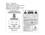PYLE Audio PICD65I User's Manual