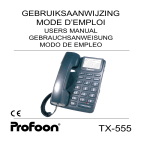Profoon Telecommunicatie TX-555 User's Manual