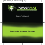 Powermatic POWERMAT PMR-PPC1EU_IB User's Manual