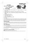 POSIFLEX Business Machines LM-6601 User's Manual