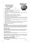 POSIFLEX Business Machines LM-/TM-7115/7115N User's Manual