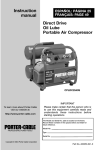 Porter-Cable CPLDC2540S User's Manual