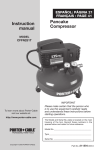 Porter-Cable CFFN251T User's Manual
