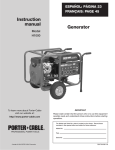 Porter-Cable H1000 User's Manual