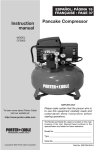 Porter-Cable D26126-024-0 User's Manual