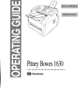 Pitney Bowes 1630 User's Manual