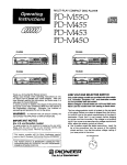 Pioneer PD-M450 User's Manual