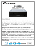 Pioneer BDR-2209 Product Overview