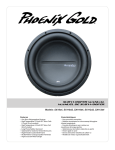 Phoenix Gold Speaker SX110D4 User's Manual