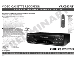 Philips VRX363AT User's Manual