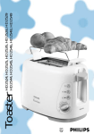 Philips Toaster HD2524 User's Manual
