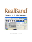 PG Music Band in a Box - RealBand User Guide