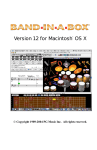 PG Music Band in a Box - 2012 (Macintosh) User Guide
