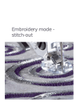 Pfaff Embroidery Mode-Stitch-Out User's Manual