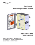 Pentair Pool and Spa Control System SunTouch User's Manual