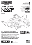 Peg Perego John Deere Ground Loader User's Manual
