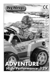 Peg Perego Adventure FI000202G33 User's Manual