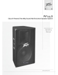 Peavey PV115D User's Manual